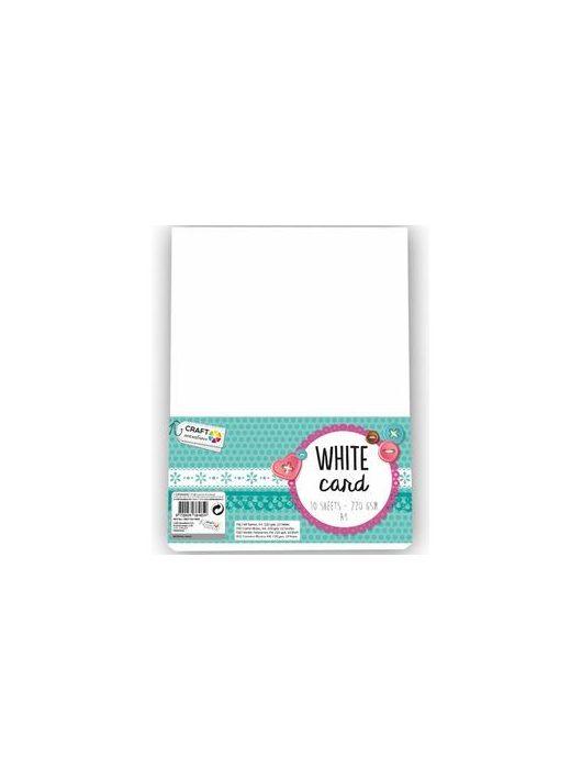 Fehér karton, névjegykarton, fotókarton, A/4, 220 g, 10 lap/cs