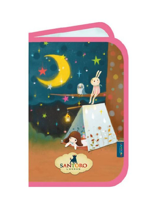 Santoro Kori Kumi, tolltartó, klapnis, üres, 20x14cm, Starry Night