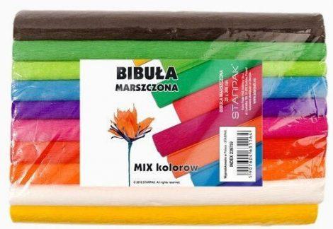 Krepp papír 25x200cm vegyes színek 10db-os