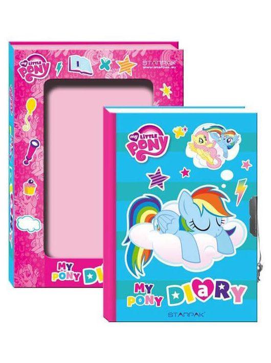 My Little Pony napló kulccsal, 17x12 cm