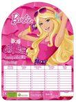 Barbie órarend, 18x25 cm