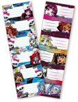 Monster High füzetcímke 6db/ív