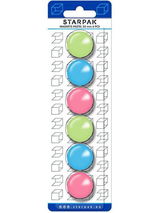 Starpak mágnes szett, 6 db-os, pasztell színek