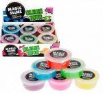 Magic clay, slime, 80g, 6 féle szín