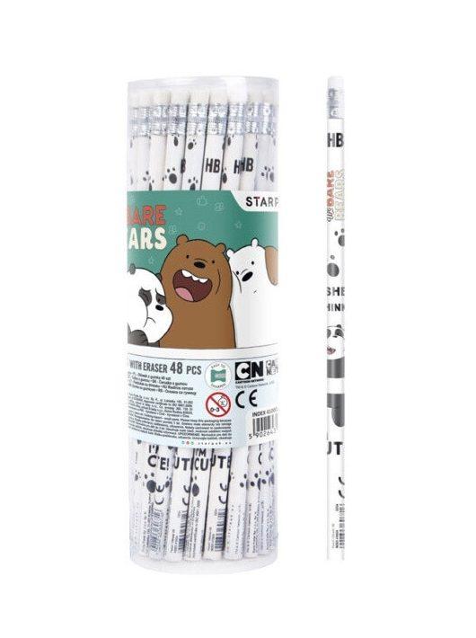 Medvetesók grafitceruza radírral, HB, 1 db