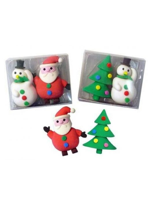 Radír Karácsonyi szett, 2 db/csomag, 3 féle változat