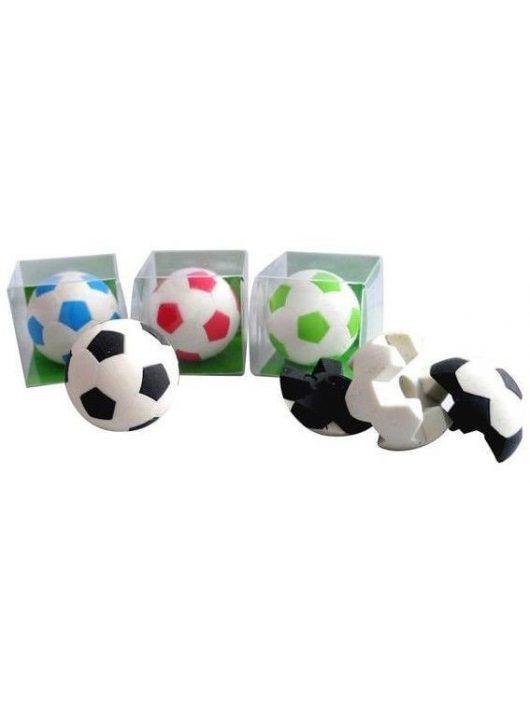 Radír Football labda puzzle, 4 féle szín