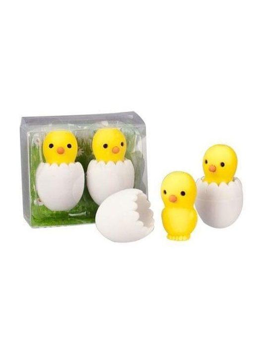 Radír Csibék tojásban, 2 db/csomag