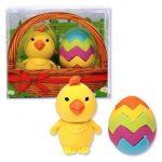 Radír Csibe tojással, 2db/csomag