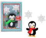 Radír, karácsonyi figura, pingvin hópehellyel, 2 féle változat