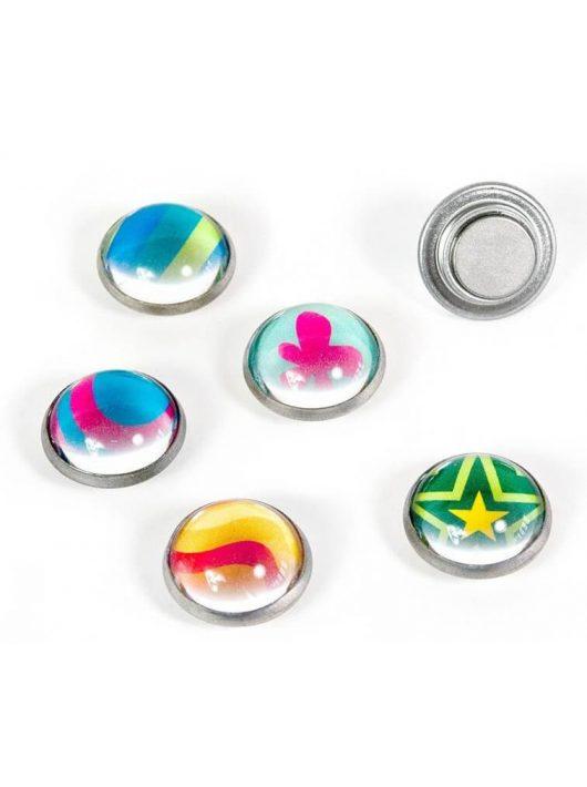 Mágnesek, fun and color, 6 db-os, Argus - színes minták