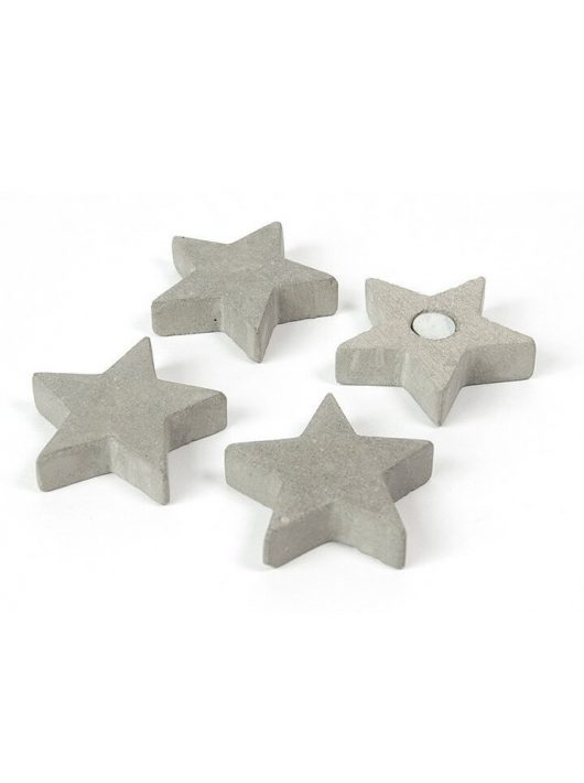 Mágnesek, fun and color, 4 db-os, Star - beton csillagok