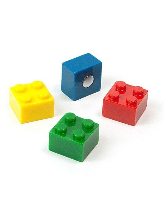 Mágnesek, fun and color, 4 db-os, Brick - építőkockák