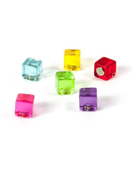 Mágnesek, fun and color, 6 db-os, Color Cube - színes kockák