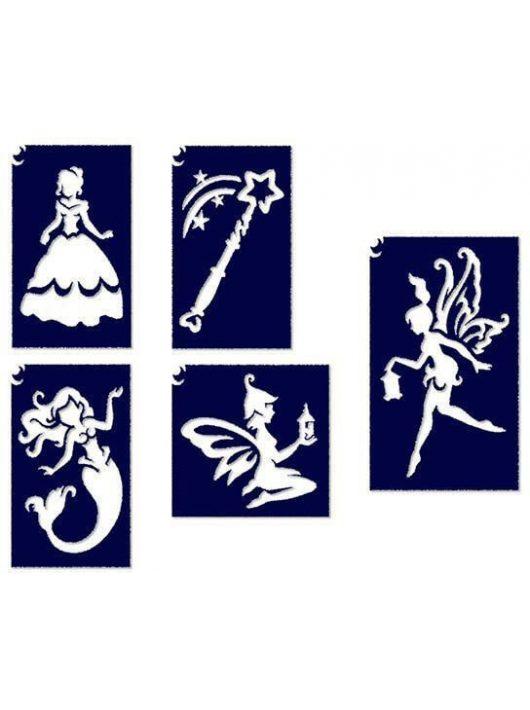 Sablonok, 5 db-os, kislányos, hercegnős