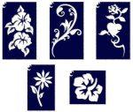 Sablonok, 5 db-os, virágok