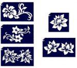 Sablonok, 5 db-os, virágok 2.szett