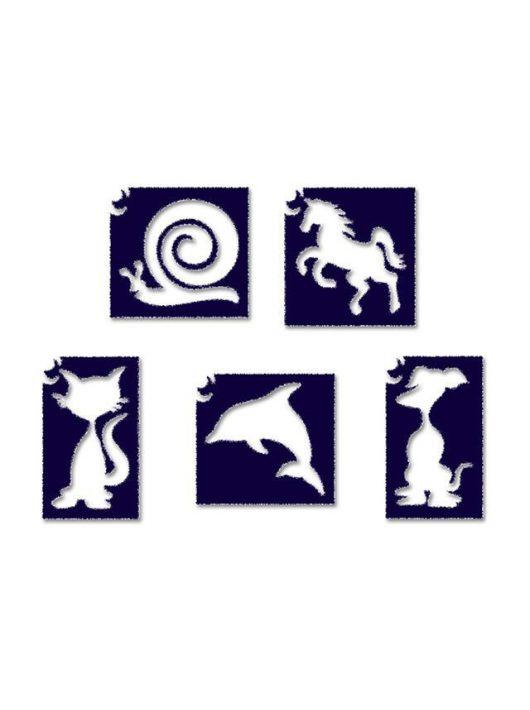 Sablonok, 6 db-os, állatok