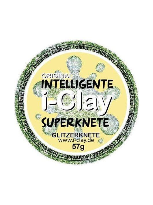 I-Clay intelligens gyurma, csillogó, zöld