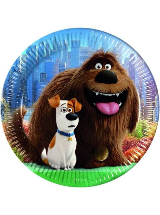 The Secret Life of Pets papír tányér, 23cm-es,  8 db/csomag