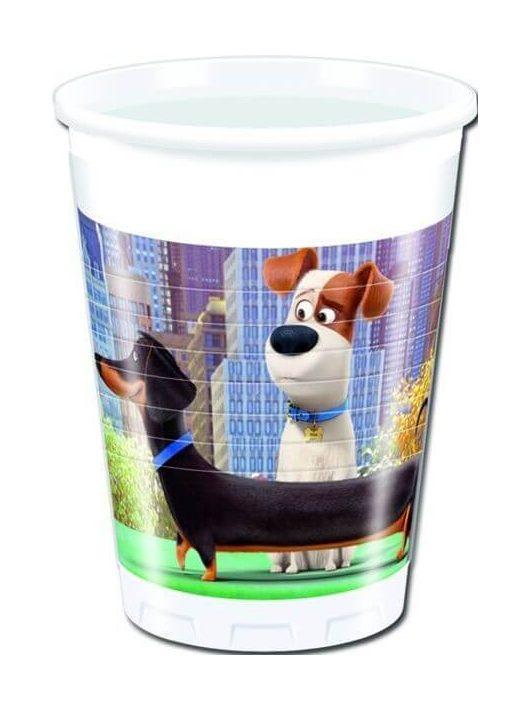 The Secret Life of Pets műanyag pohár, 200 ml, 8 db/csomag