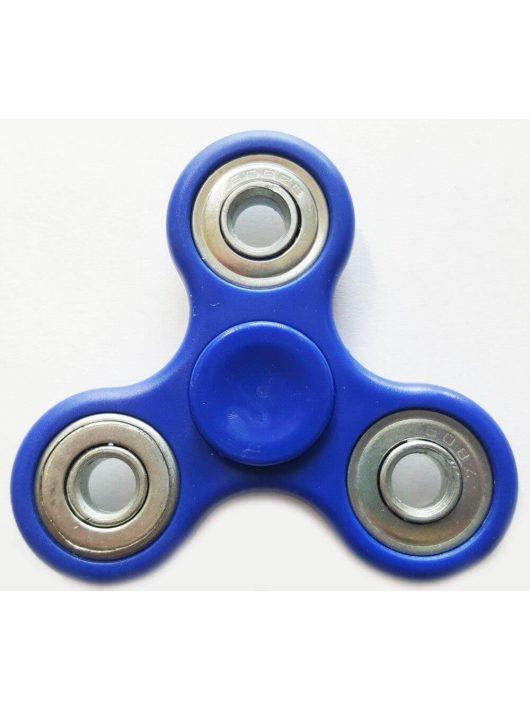 Fidget Spinner, ujjpörgettyű, egyszínű, 4 csapágyas, kék
