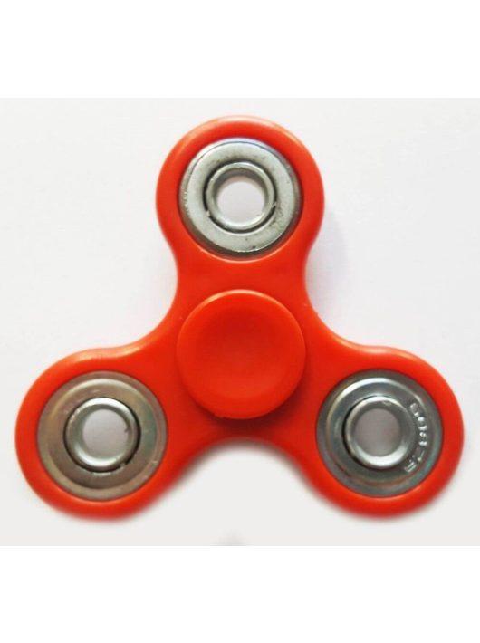 Fidget Spinner, ujjpörgettyű, egyszínű, 4 csapágyas, piros