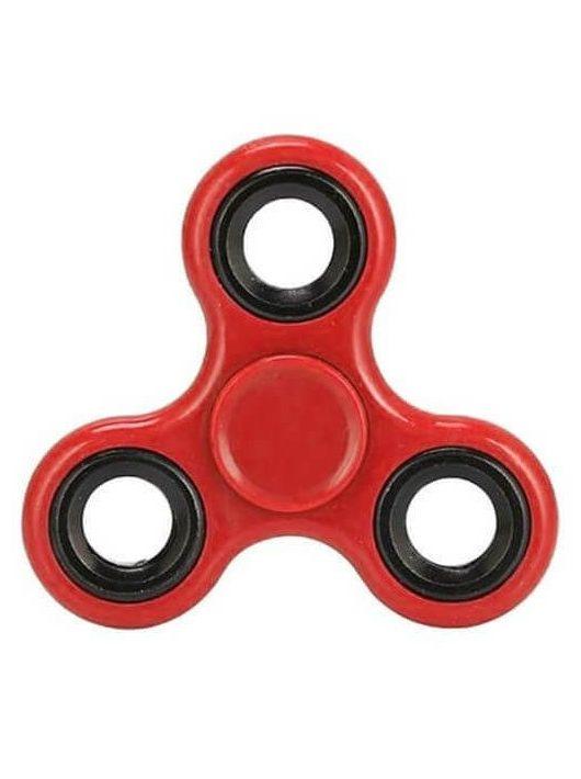 Fidget Spinner, ujjpörgettyű, egyszínű, piros