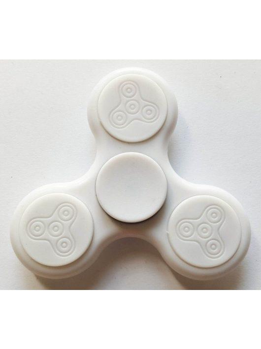 Fidget Spinner, ujjpörgettyű, LED világítással, fehér