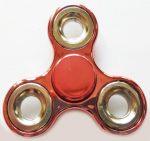 Fidget Spinner, ujjpörgettyű, metál, mályva