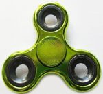 Fidget Spinner, ujjpörgettyű, metál, zöld