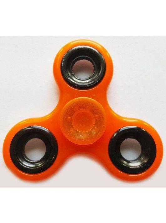 Fidget Spinner, ujjpörgettyű, foszforeszkáló, narancs