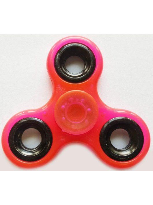 Fidget Spinner, ujjpörgettyű, foszforeszkáló, rózsaszín